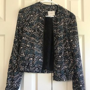 Green & Black Floral Cardigan